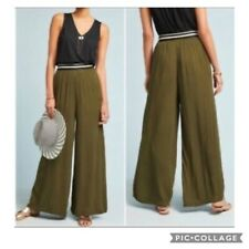 Anthropologie Dolan XS Army Green Wide Leg Pants Excellent Plazzo