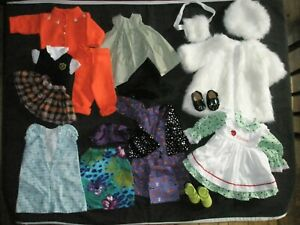 """Lot Of 18"""" Doll Clothes - 8+ Outfits - Battat / Home Made / Unmarked"""