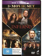 Da Vinci Code / Angels & Demons / Inferno (DVD, 2017, 3-Disc Set), NEW SEALED R4