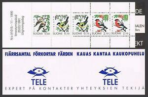 Finland 856a,857a booklets,MNH.Michel MH 28-29.Birds 1991-1992.Bullfinch,Waxwing