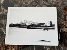 Bw Photo Norwegian Air Lines Norway Dc 3 on Airfield 3.5 x 4.5