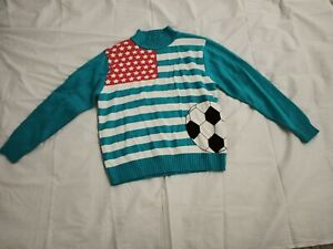 Boys Blue Colour Size 16 Sweater Jacket Knitted Soccer Regular Jumper Clothing