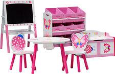 Conjunto de muebles de los niños Kid's Chambre Papillon Group | Sillas + Mesa - 6 Juegos
