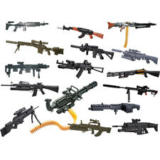 "8Pcs Set 1/6 Scale Weapons Rifle Guns For 12"" Action Figures AK74 AK47 M16 M134"