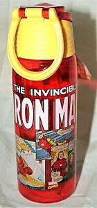 Marvel Comics Classic Iron Man Travel Zak! BPA Free Drink Bottle New 25oz