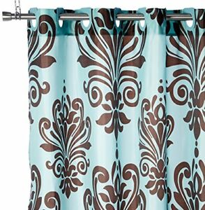 Ez On Fabric shower curtain with built in shower curtain hooks: size 70 wide ...