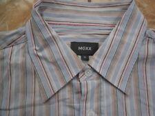 E9063 Mexx  Hemd XL Blautöne Rot Weiß Beige Rosa Gestreift