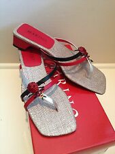MARINO BOUTIQUE Red Black Ladybug Sandals 8M - New In Box!!!