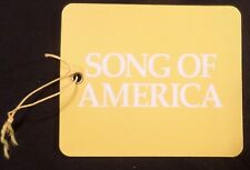 ms Song of America . Royal Caribbean Baggage Tag . RCCL Cruise Ship Boat Vessel