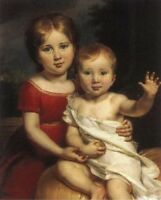 """perfect 20x24 oil painting handpainted on canvas """"Princes  in Childhood""""@12875"""
