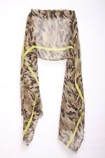Unisex Military Theme Green/brown Striped Statement Scarf (S6)