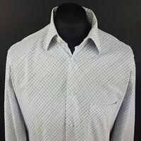 JOOP! Mens Shirt XL (TALL) Long Sleeve Blue Regular Fit Check Cotton