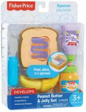 Fisher Price Peanut Butter & Jelly Set Pretend Kitchen Play Food Toy 5 pcs NEW