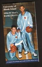 Rhode Island Rams--1994-95 Basketball Pocket Schedule