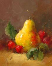 Pears and Cherries II Vera Oxley Art Print 8x10