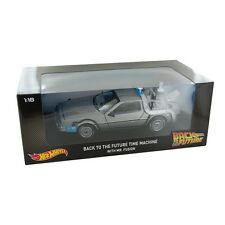 HOT  WHEELS 1:18 BACT TO THE FUTURE DELOREAN TIME MACHINE WITH MR.FUSION