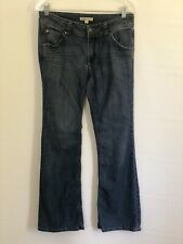 CAbi Jeans Womens Jeans Size 6 Medium Wash Flare Back Pocket Design