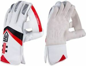 2021 Gray Nicolls GN500 White Red Wicket Keeping Gloves - Free P&P