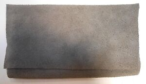 Handmade Gray Cowhide Leather Satchel Wallet Pouch Bag Holder Purse Gift