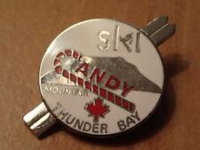 SKI RESORT HAT/LAPEL PIN-Souvenir/Snowboard-CANDY MOUNTAIN/THUNDER BAY/CANADA