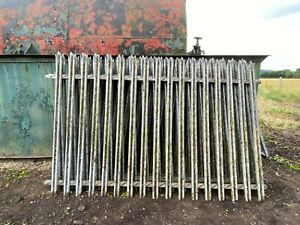 Steel Security Fence Panels Reclaimed 2.7 mtrs wide x 1.75 mtrs tall