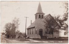 1918 Congregational Church in Amery, Wis. RPPC