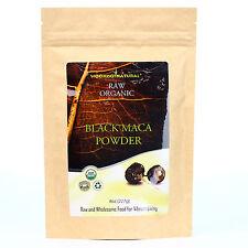 USDA Certified Organic BLACK MACA powder 8 oz, Energizing Herb Rich in Saponins