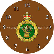 WOMENS LAND ARMY GLASS WALL CLOCK