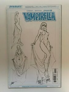 Vampirella #1 J. Scott Campbell Design Sketch 1:25 Variant Dynamite Comics