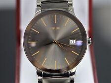 $1,450 Rado 38mm Centrix L Ceramic Steel Men's Watch Quartz 01.115.0927.3.013