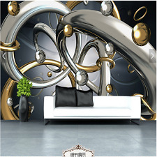 3D Sitting room bedroom TV background Embossed circle ring wallpaper WT1762