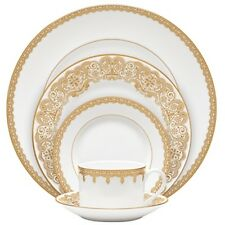 Waterford China Lismore Lace Gold Dinnerware 40Pc Set, Service for 8