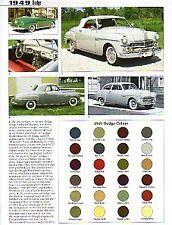 1949 Dodge Coronet + Wayfarer + Convertible + Woody Wagon Article - Must See !!