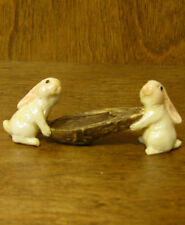Top Collection Enchanted Story Fairy Garden #4150 RABBITS CARRYING NUTSHELL