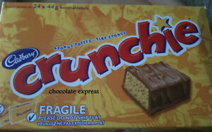 24 CADBURY CRUNCHIE FULL SIZE CHOCOLATE BARS MADE IN CANADA