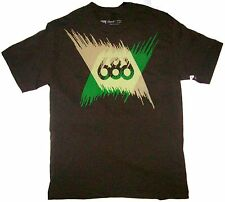 Men's 686 Six Eight Six Premium Crew Neck S/S T Tee Shirt Brown Size Small S