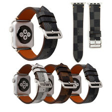 Apple Watch Replacement Band Strap Brown Black Checkered Pattern 40mm 42mm 44mm