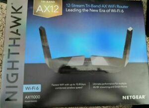 NETGEAR RAX200 AX11000 Nighthawk Tri-Band AX12 12-Stream Wi-Fi 6 Router