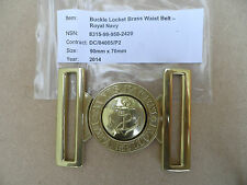 Royal Navy PO's + above Dress belt locket [buckle], new + un-issued.
