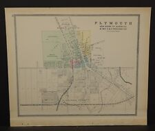 Ohio Huron County Map Plymouth 1891  !Y14#62