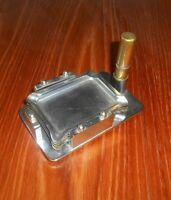 Art Deco Smokers Stand Ashtray Set Colibri Plated Very Rare