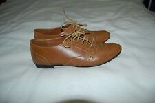 Aldo Brown Leather Lace Up Moccasins Oxford Shoes Size 36