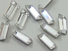 24pcs 3X1mm CRYSTAL BAGUETTE FOILED POINTED BACK swarovski rhinestones