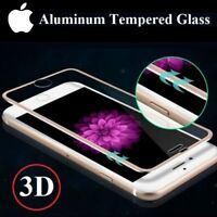 VETRO TEMPERATO PELLICOLA 3D COVER BORDO ALLUMINIO per iPhone 6 6s 7 8 / Plus