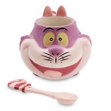NEW DISNEY Store CHESHIRE CAT Mug and Spoon Set ALICE IN WONDERLAND 12 oz