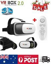2.0 Virtual Reality 3D Game VR BOX Glasses Smartphone Bluetooth Remote Control