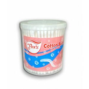 200'S Flora Cotton Buds Cotton Swabs Tips Ear Cleaning Sticks