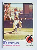 Bill Parsons #231 Topps 1973 Baseball Card (Milwaukee Brewers) VG
