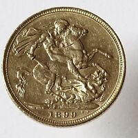 1899 Full Gold Sovereign Melbourne Mint