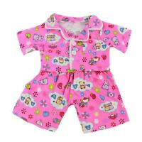 "10"" PINK CUTE TEDDY PJS  PYJAMAS TEDDY OUTFIT  FITS 8"" -10"" (25CM) TEDDY BEARS"
